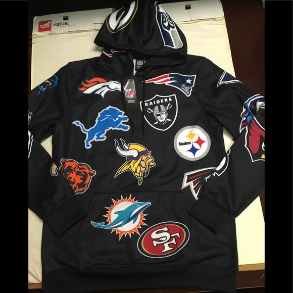 low priced d673a a336a Black NFL teams hoodie size large NWT